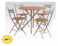 Conjunto de mesa y sillas auxiliar