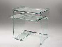 Mesa para ordenador de cristal