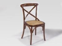Elegante silla de madera asiento acolchado