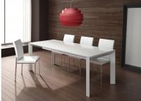 Mesa de comedor lacada y 4 sillas 2