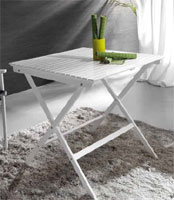 Mesa de madera plegable blanca - Mesa plegable blanca de madera