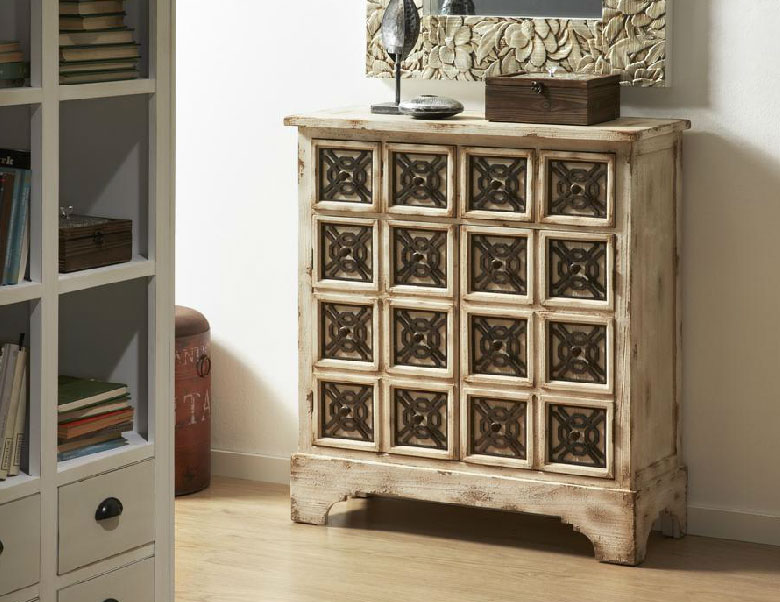 Muebles madera hierro rusticos 20170730040253 - Camareras muebles auxiliares ...