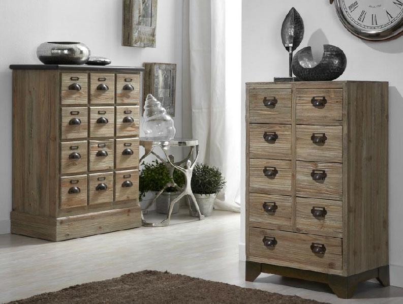 Muebles de madera natural comodas o chifornier for Muebles auxiliares clasicos madera