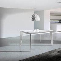 Mesa de comedor Irazu - Mesa de comedor Irazu. extensible en madera lacada