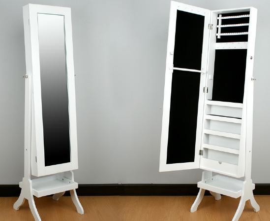 Espejo de pie gal n o joyero bilbao for Espejo pie blanco