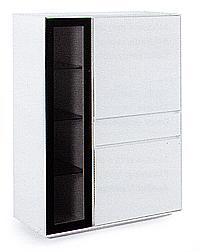 Aparador vitrina modular blanco 07