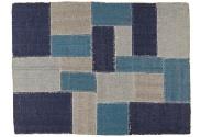 Alfombra en patchwork azul