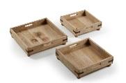Bandejas de madera - Bandejas de madera natural