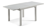 Mesa de comedor extensible Anja - ANJA Mesa extensible en cristal y metal