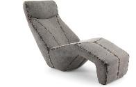 Chaise longue gris