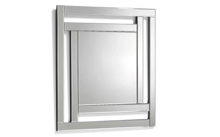 Mia home espejo rectangular de cristal for Espejo con marco biselado