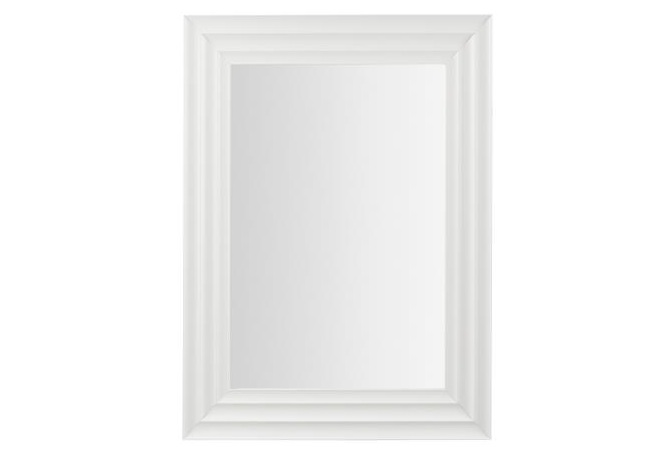 Mia home espejo rectangular for Espejos con marco color plata