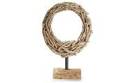 Ovalo decorativo de madera - Pieza decorativa en forma de óvalo