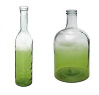 Jarr�n Bitono Cristal Transp/Verde Claro