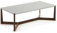 Mesa centro estructura de madera - Sobre fibra de madera lacada