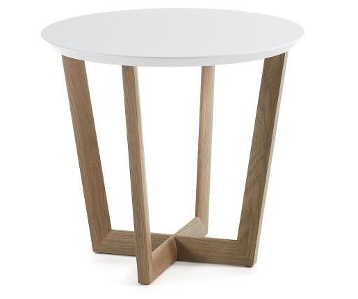 Mesa auxiliar redonda madera for Limpiar madera lacada
