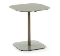 Mesa de centro con pies de acero en pintura epoxy - Disponible en tres acabados