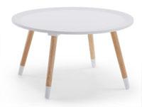 Mesa auxiliar redonda de madera contrachapada - Disponible en dos acabados