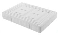 Colchón cara superior en tejido Strech Cool Fresh con acolchado viscoelástico - Cara inferior en tejido 3D acolchado de eliocel de 2 cm