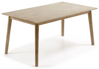 Mesa en madera de acacia maciza en acabado te�ido gris claro - Disponible en dos medidas