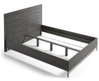 Cama de madera gris
