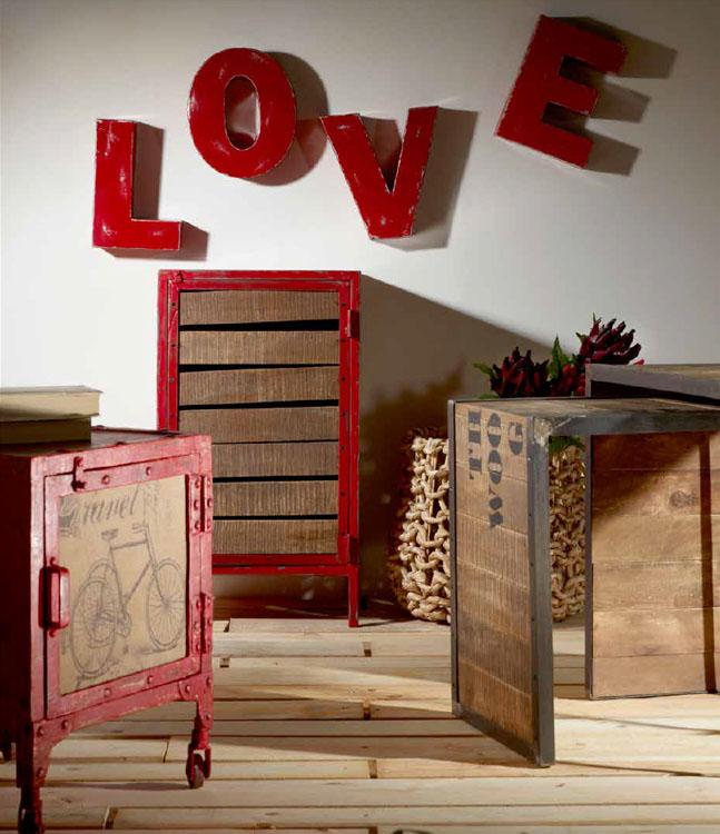 Conjunto mesitas, consolas y piezas decoración - Mesitas auxiliares, cesto y letras decorativas