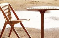 Set sillas y mesa de madera teca SERPENS