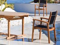 Set sillas y mesa de madera teca SIRIO/ARENILLAS