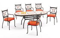 Set sillas y mesa mosaico modelo KINGAROY