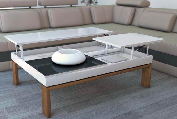 Mesa de centro elevable mesa de centro elevable for Mesa cristal milanuncios