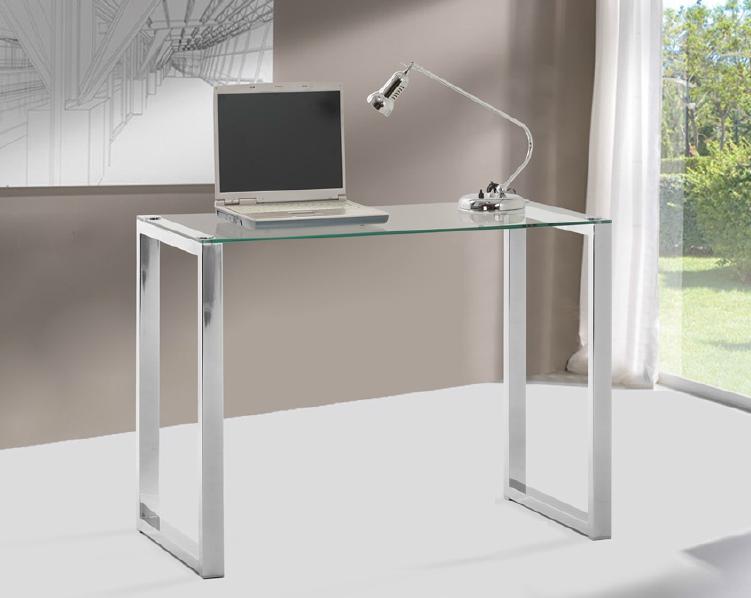 Mia home mesa para ordenador tope de cristal templado - Mesas para el ordenador ...