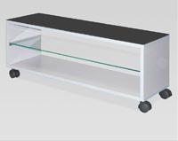 Mesa TV baja con ruedas - Con cristal