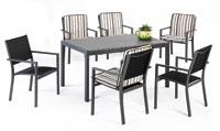 Set sillas y mesa estructura aluminio modelo LLINA