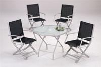 Set sillas y mesa de acero modelo LORENA