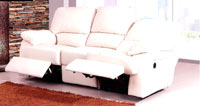 Sofá de RELAX piel blanco LOVELY