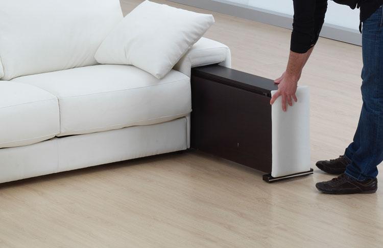 Sof con arc n en polipiel o tela extraibles for Sofas 4 plazas reclinables