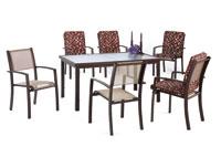 Set sillas y mesa estructura aluminio modelo MACAFI