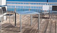 Mesa aluminio y cristal modelo MANOA