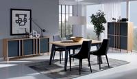 Juego de comedor Montreal - Conjunto de comedor Montreal (Aparador, Mesa extensible, sillas y mueble auxiliar)