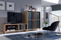 Mesa de TV Montreal - Conjunto de Mesa de TV y mueble Aux. Montreal