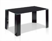 Mesa comedor rectangular cristal templado - Disponible en dos acabados