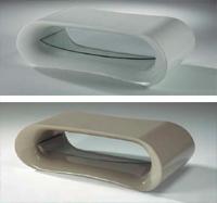 Mesa sal�n con 1 bandeja cristal - Disponible en 3 acabados
