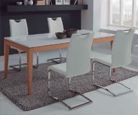 Comedor moderno Nogal 2 - Compuesto por Aparador y mesa comedor rectangular