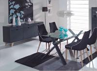 Sal�n modular lacado 2 - Compuesto por Aparador, vitrina y mesa comedor