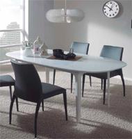 Juego de comedor con mesa extensible - Estructura de metal lacado y DM