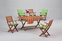 Set sillas y mesa madera modelo MARACAIBO