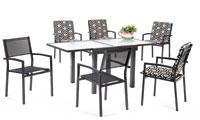 Set sillas y mesa estructura aluminio modelo MARCOTT