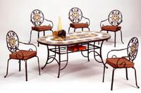 Set sillas y mesa mosaico modelo MARSEL