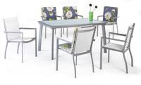 Set sillas y mesa estructura aluminio modelo MEDA