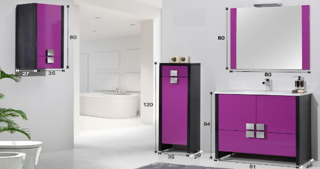 Medidas De Un Botiquin Para Baño:Mueble para baño modelo Cool